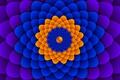 Картинка цветок, движение, узор, объем, оптический обман
