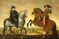 Картинка жанровая, картина, Принц Морис и Принц Фредерик Генри на Лошадях, Pauwels van Hillegaert