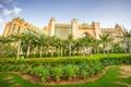 Картинка Дубай, здания, ОАЭ, архитектура, озеленение, пальмы