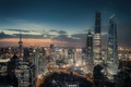 Картинка Шанхай, город, КНР, вечер, огни, Китай