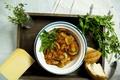 Картинка roast chicken, Грибы, жареная курица, Хлеб, Блюдо, Mushrooms, Петрушка