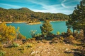 Картинка Lake, Trees, Панорама, Autumn, Деревья, Panorama, Осень, Озеро