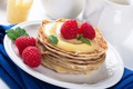Картинка ягоды, малина, мед, блины, pancakes