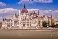 Картинка Будапешт, река, Дунай, Венгрия, Парламент