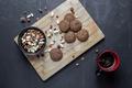 Картинка кофе, сладкое, еда, выпечка, овсяное печенье, орехи