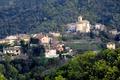 Картинка Прованс-Альпы-Лазурный берег, деревья, дома, Франция, Орибо-Сюр-Сиань, горы, пейзаж
