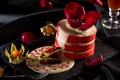Картинка цветок, торт, десерт, физалис