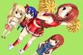 Картинка game, anime, Lucy, cherleader, oriental, asiatic, mahou, asian, pretty, Erza, seifuku, Flare Corona, Fairy Tail, ...