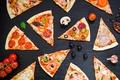 Картинка сыр, мясо, овощи, пицца, помидоры, соус, выпечка, pizza, специи, шампиньоны, тесто, ассорти, Italian, tomato, ingredients