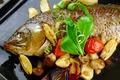 Картинка овощи, картофель, грибы, рыба