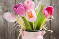Картинка fresh, love, gift, pink, тюльпаны, romantic, tulips, букет, flowers