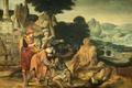 Картинка Корнелис Массейс, Притча о Блудном Сыне, мифология, масло, картина, дерево