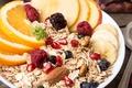Картинка ягоды, апельсин, завтрак, фрукты, breakfast, мюсли, muesli, fresh berries