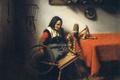 Картинка картина, масло, Николас Мас, Прядильщица, холст