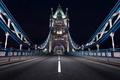 Картинка ночь, Англия, Лондон, опора, Тауэрский мост