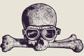 Картинка Glasses, drawing, skull