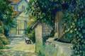 Картинка картина, городской пейзаж, Georges Henri Manzana Pissarro, Жорж-Анри Манзана-Писсарро, Колодец в Ментоне