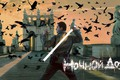 Картинка постер, вороны, зарево, статуи, Константин Хабенский, лампа, птицы, фэнтези, Ночной дозор, небо, триллер