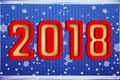 Картинка Новый Год, Праздник, 2018, Цифры, Минимализм, Зима, Снежинки, Снег