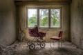 Картинка окно, стул, коляска