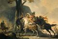 Картинка масло, картина, холст, история, баталия, Корнелис Трост, Александр Великий в Битве с Персами на Реке ...