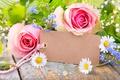 Картинка romantic, розы, roses, лепестки, flowers, pink