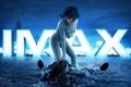 Картинка Major, Imax, pose, Scarlett Johansson, oppai, suit, mecha, man, fight, cinema, film, pistol, gun, weapon, ...