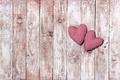 Картинка romantic, любовь, сердечки, hearts, love, wood, pink