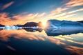 Картинка Greenland, лёд, Sunrise, солнце