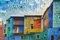 Картинка коллаж, дома, окно, балкон, Аргентина, Буэнос-Айрес