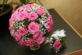 Картинка beautiful, розовые, wedding, roses, bouquet, нежные, lovely, розы, романтика, букет, свадьба
