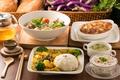 Картинка салат, суп, овощи, рис, чай, ассорти