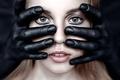 Картинка девушка, макияж, пальцы, Люда Малыхина