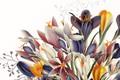 Картинка цветы, фон, вектор, текстура