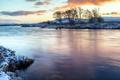 Картинка зима, река, утро