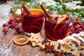 Картинка tea, punch, Рождество, cookies, orange, печенье, глинтвейн, wine, merry christmas, Новый Год, decoration
