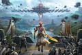 Картинка битва, игра, фантастика, арт, Anton Lavrushkin, Skyforge: PS4 Promotional materials, армия