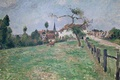 Картинка Деревня Эраньи, Камиль Писсарро, пейзаж, картина