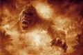 Картинка cinema, fire, flame, movie, animal, gorilla, fang, film, angry, strong, fury, spark, Kong: Skull Island, ...
