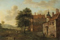 Картинка пейзаж, картина, Ян ван дер Хейден, Загородный Дом