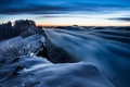 Картинка зима, природа, горы, утро, туман