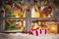 Картинка зима, снег, украшения, Новый Год, окно, Рождество, подарки, Christmas, winter, snow, window, Merry Christmas, Xmas, ...