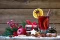 Картинка tea, punch, корица, decoration, cookies, orange, орехи, яблоко, Рождество, печенье, wine, глинтвейн, merry christmas, Новый ...