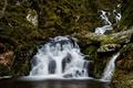 Картинка природа, камни, зелень, вода, водопад
