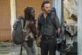 Картинка зомби апокалипсис, Andrew Lincoln, Danai Gurira, Michonne, Rick, Season 7, The Walking Dead, оружие