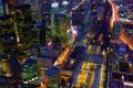 Картинка ночь, огни, дома, Канада, панорама, Торонто