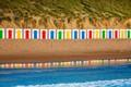 Картинка пляжные домики, Англия, Девон, пляж Вулакомб