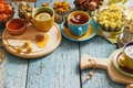 Картинка лимон, чай, мед, чашка, lemon, honey, травы, cup, tea, herbal