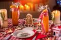 Картинка пряник, свечи, праздник, новый год, новогодние угощения