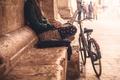 Картинка city, bike, social life, loneliness, girl